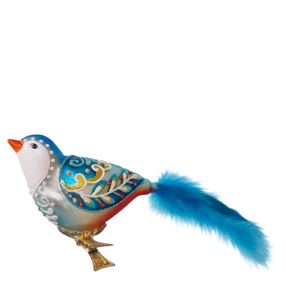 Hallmark Winter's Bird Blown Glass Ornament
