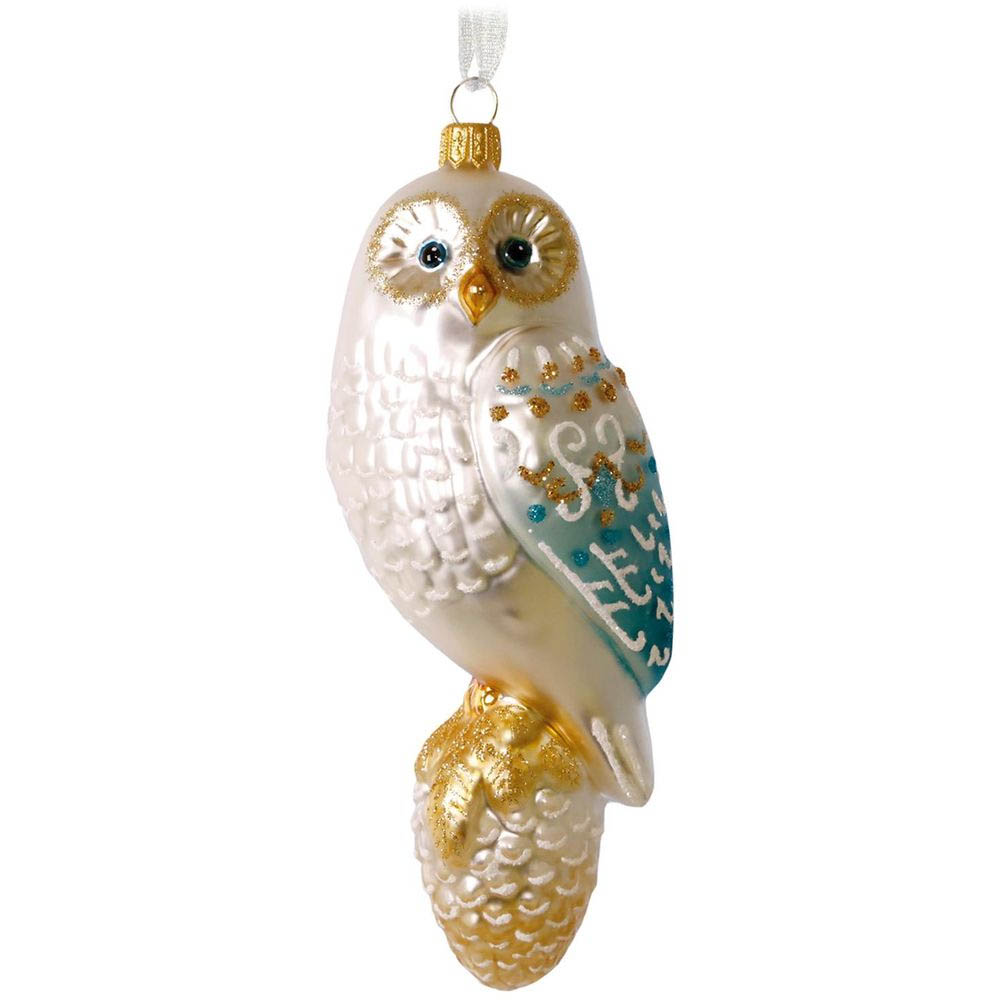 Hallmark Winter's Owl Blown Glass Ornament