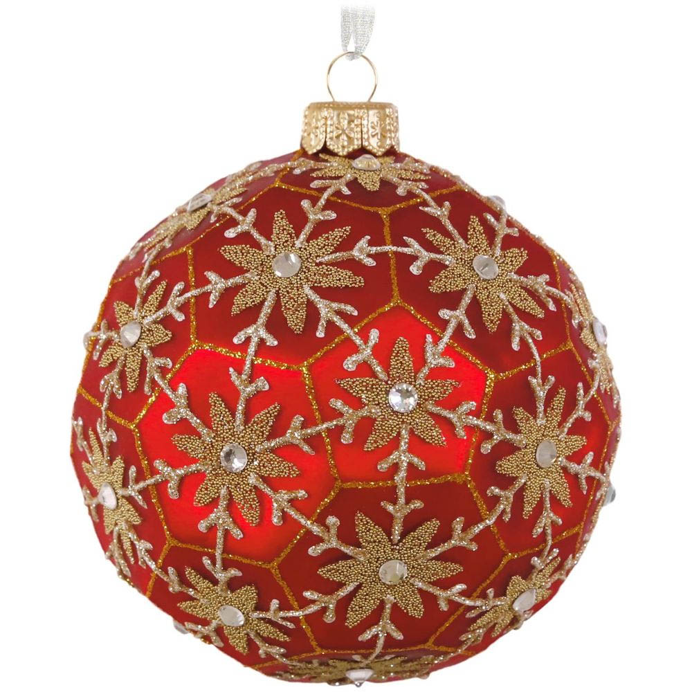 Hallmark Geometric Snowflake Blown Glass Ornament