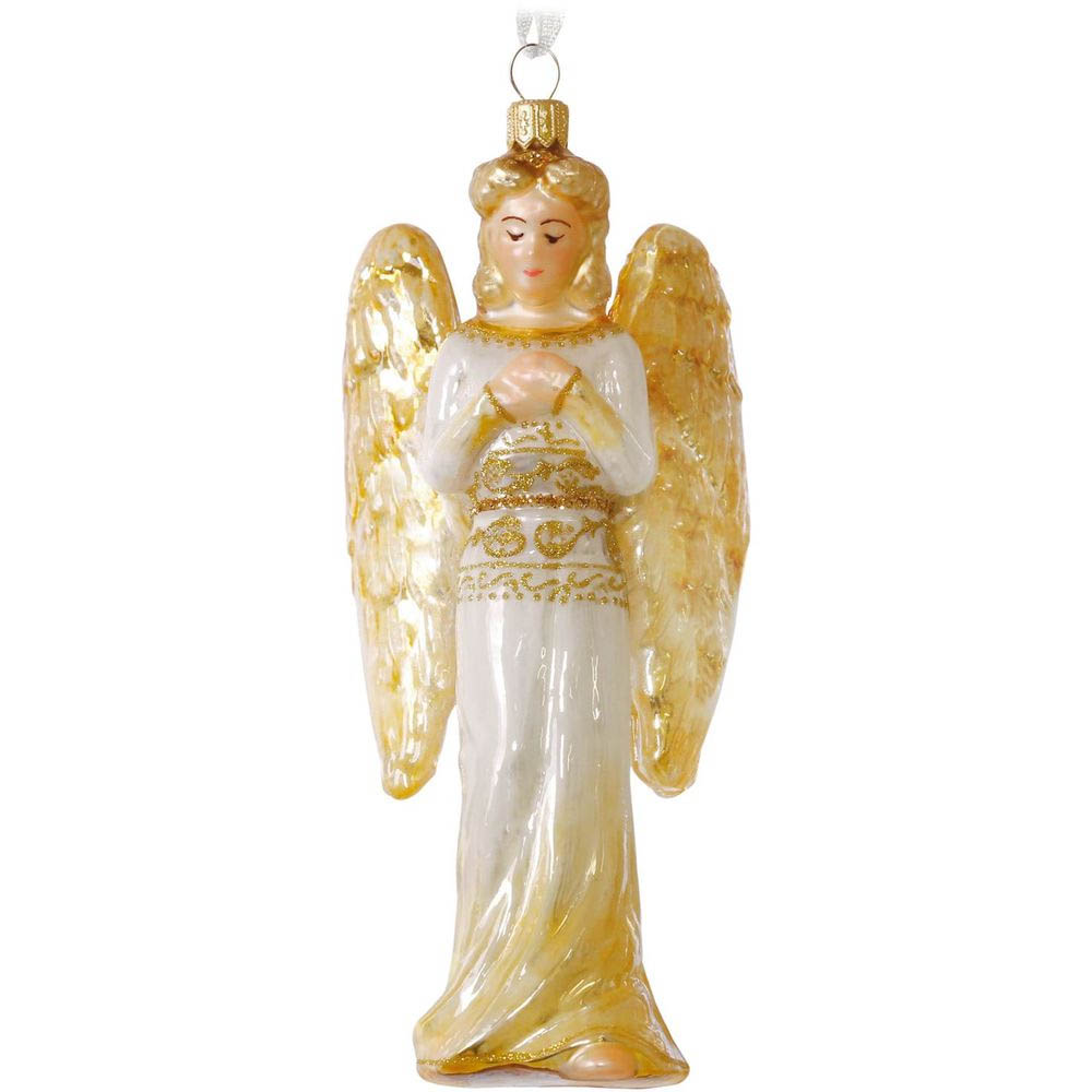 Hallmark Praying Angel Blown Glass Ornament