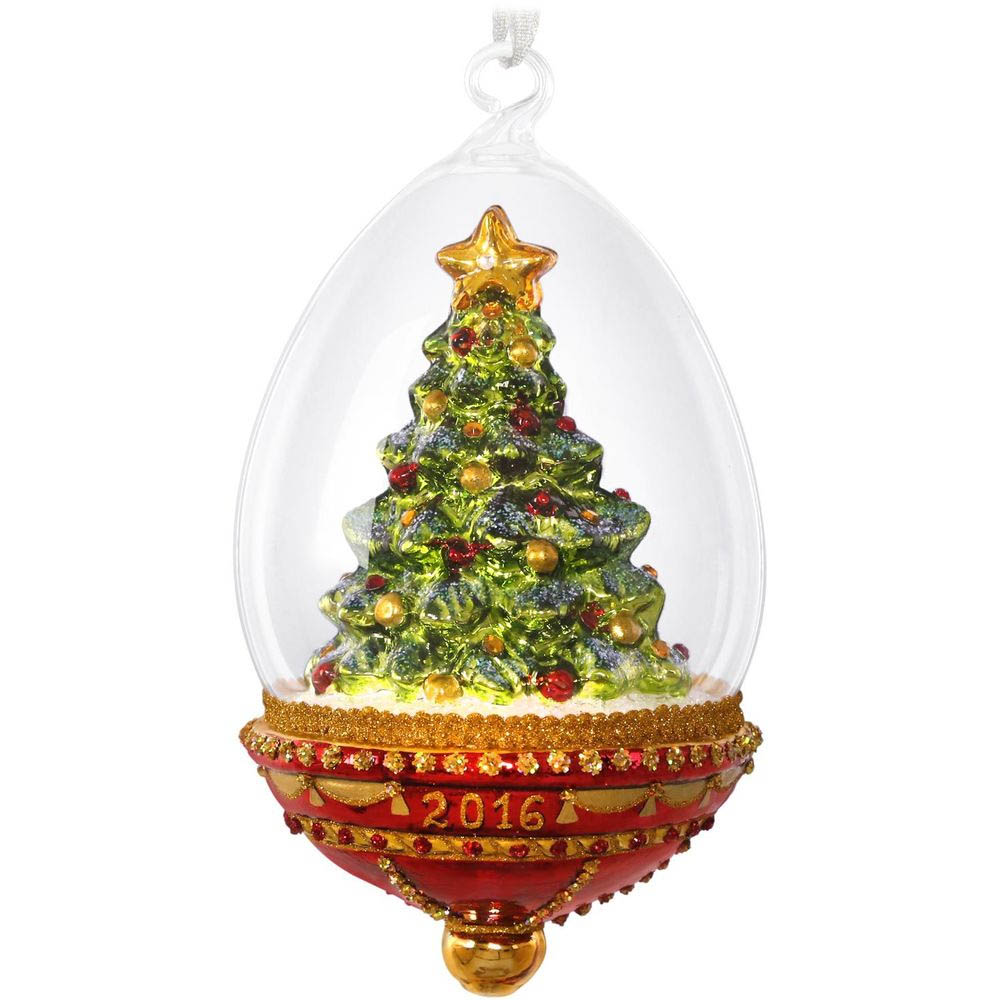 Hallmark 2016 Glass Christmas Tree Dome Ornament