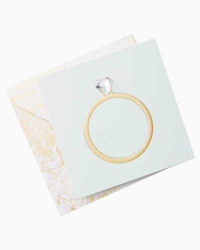 Diamond Ring Gift Tag With Envelope