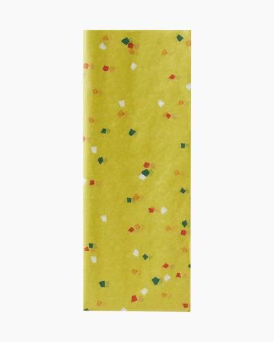 Citron Yellow Confetti Pattern Tissue Paper, 6 sheets