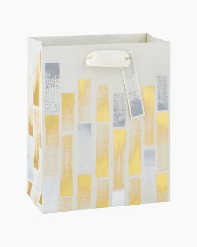 Foil Brushstrokes Small Gift Bag, 6.5-inch