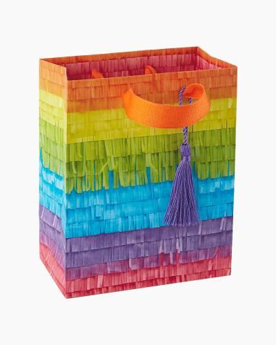 Rainbow Stripe Piñata Small Gift Bag, 6.5-inch