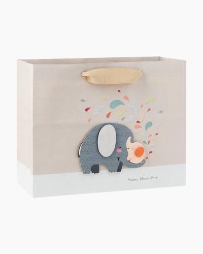Elephant Love Medium Gift Bag, 7.75-inch
