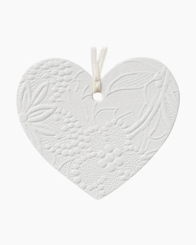 Embossed Heart Gift Trim With Ribbon