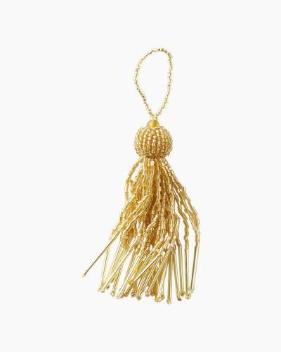 Gold Beaded Tassel Gift Trim