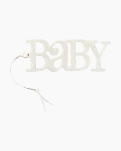 Ivory Felt Baby Gift Trim