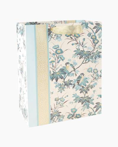 """Birds and Branches Large Gift Bag, 13"""""""