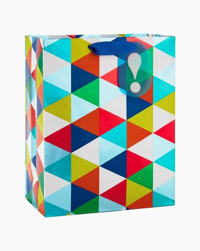 Colorful Triangles Large Gift Bag, 13-inch