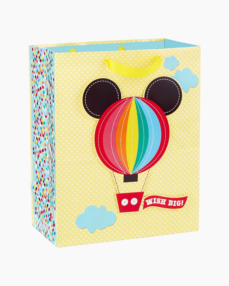 Hallmark Mickey Mouse Hot Air Balloon Baby Large Gift Bag, 13