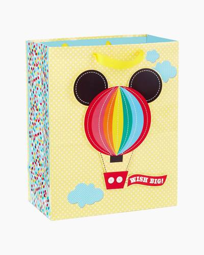 Mickey Mouse Hot Air Balloon Baby Large Gift Bag, 13-inch
