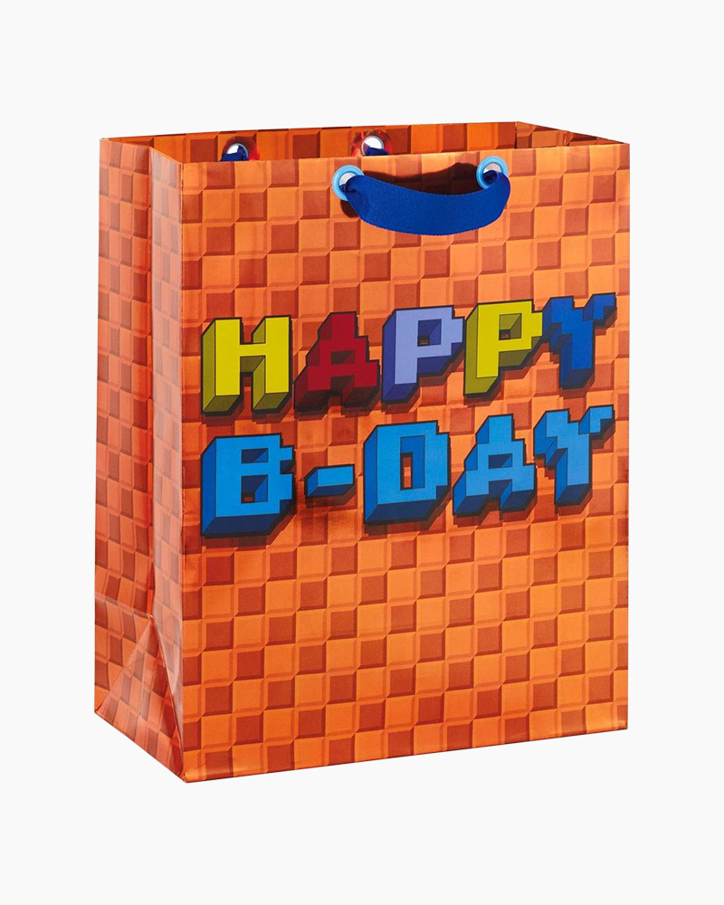 Hallmark 8-Bit Gaming Pixel Birthday Large Gift Bag, 13
