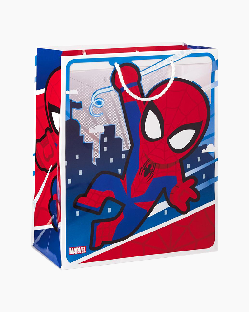 Hallmark Marvel Spider-Man Swinging Through City Large Gift Bag, 13