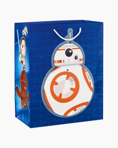 """Star Wars: The Force Awakens BB-8 Birthday Message Large Gift Bag, 13"""""""