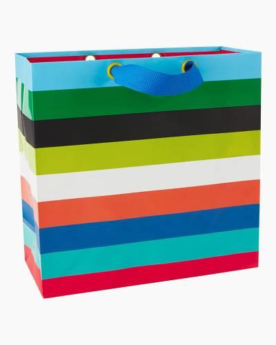 Multicolor Horizontal Stripes Large Square Bag, 10.25-inch