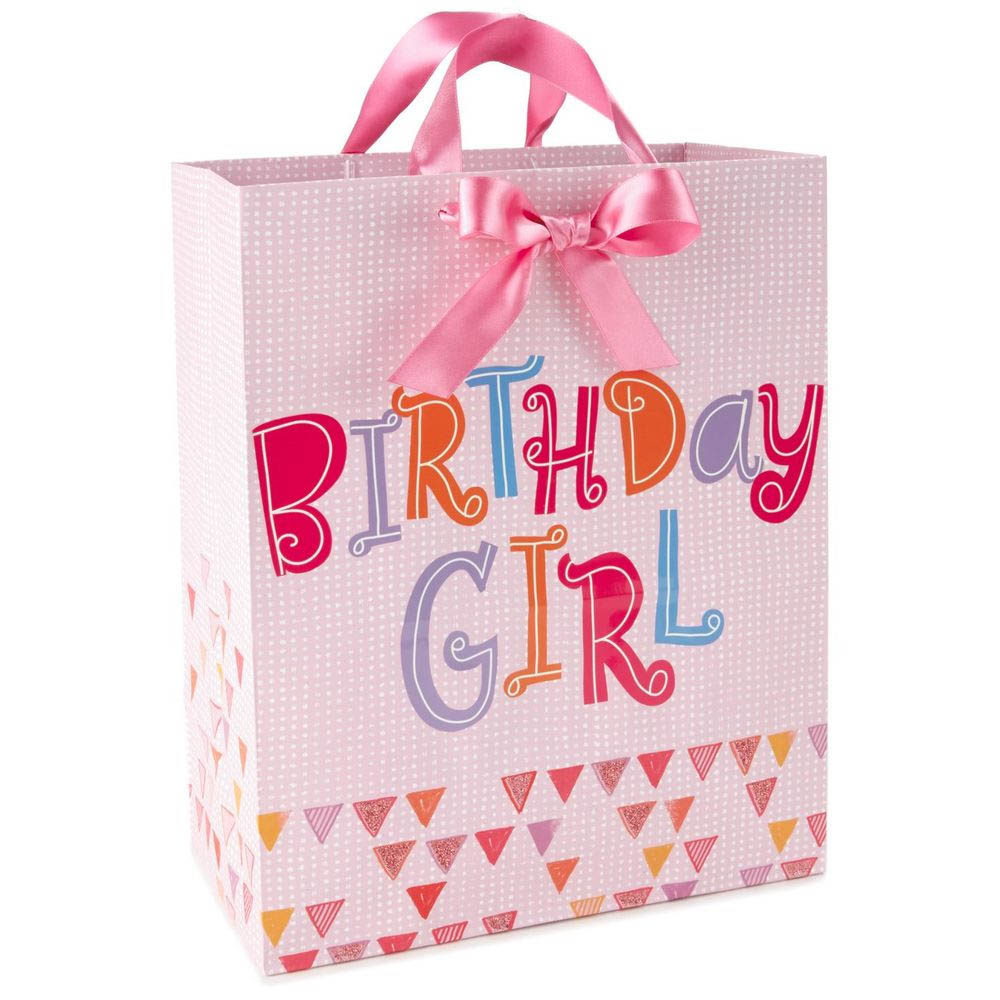 Hallmark Birthday Girl Pink Large Gift Bag, 13