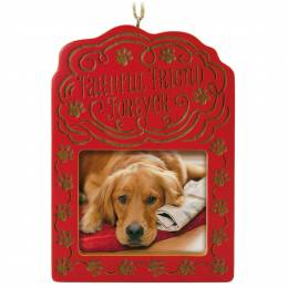 Hallmark Faithful Friend Forever Pet Bereavement Photo Holder Ornament