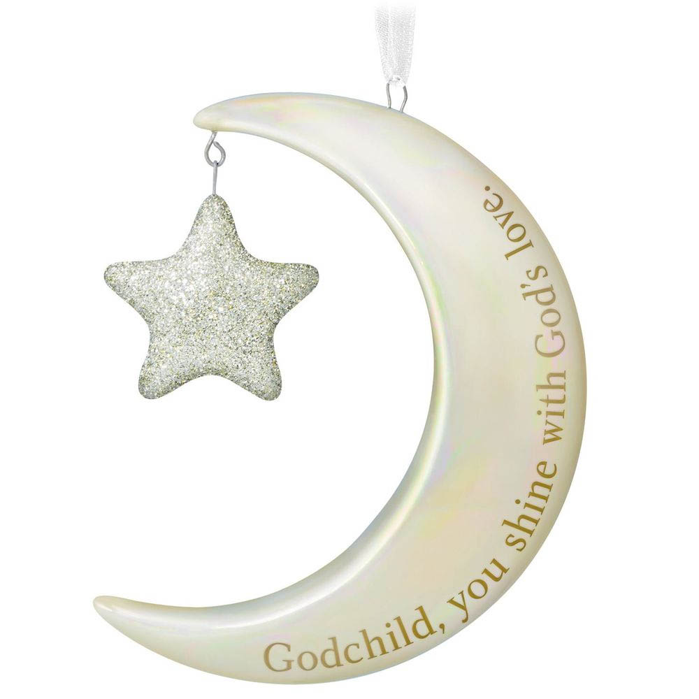 Hallmark Godchild, You Shine Moon and Stars Ornament