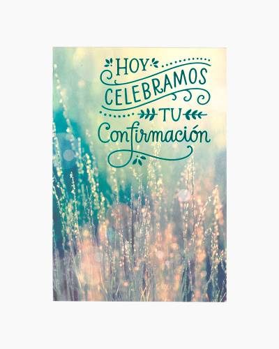 Congratulations Confirmation Card (Spanish)