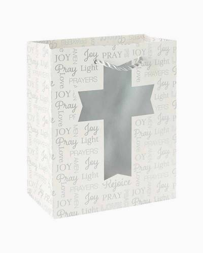 "Silver Cross Small Gift Bag, 6.5"""
