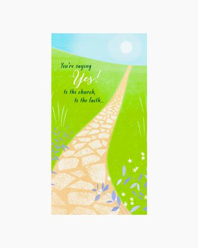 Stone Path Confirmation Money Holder Card