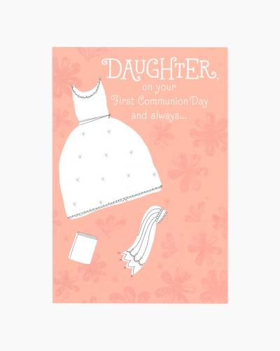 Congratulations for Daughter First Communion Card