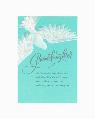 Congratulations for Granddaughter Confirmation Card