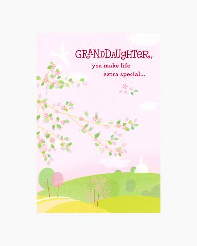 Congratulations for Granddaughter First Communion Card