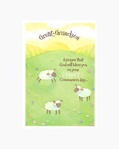 Congratulations for Great-Grandson First Communion Card