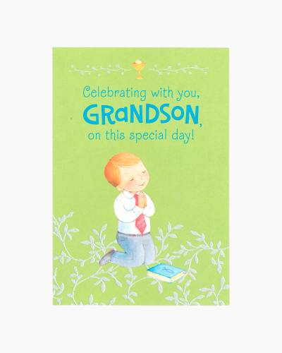Congratulations for Grandson First Communion Card