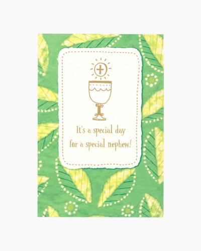 Special Nephew First Communion Card