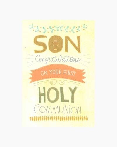 Congratulations for Son First Communion Card