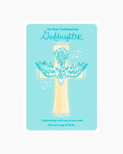 Dove and Cross Confirmation Card for Goddaughter