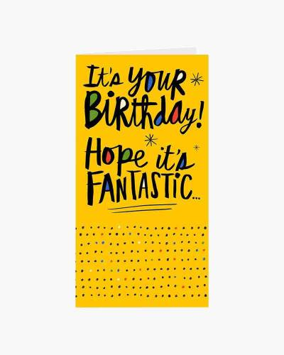 Fantastic Money Holder Birthday Card