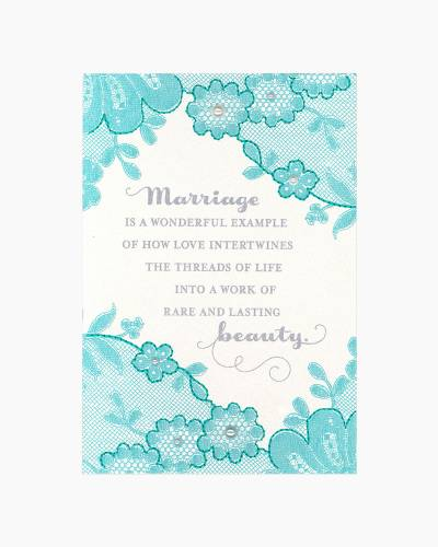Floral Mesh Anniversary Card