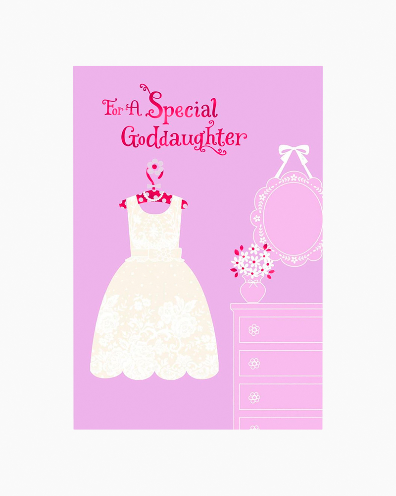 Hallmark Flowery White Dress First Holy Communion Card For