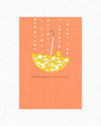 A Little Someone Umbrella New Baby Card