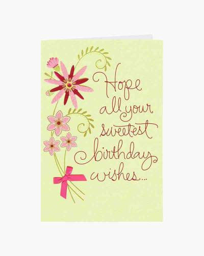 Wishes Grow and Bloom for You Birthday Card