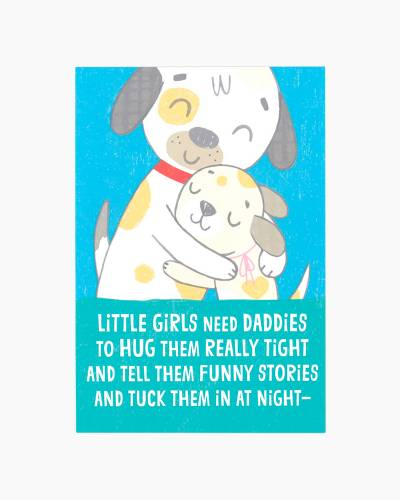 Doggy Dad Father's Day Card from Daughter
