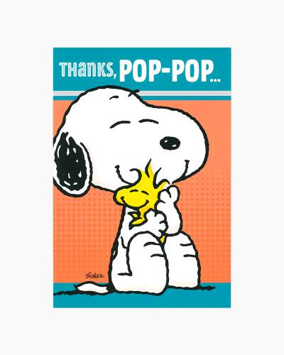 Pop-Pop Snoopy and Woodstock Father's Day Card