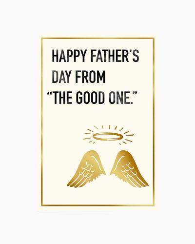 Your Little Angel Funny Father's Day Card