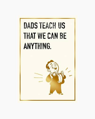 Life Lessons Funny Father's Day Card From Child