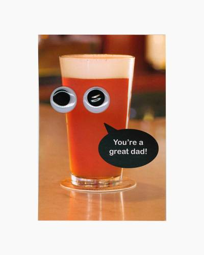Googly Eyes Beer Father's Day Card