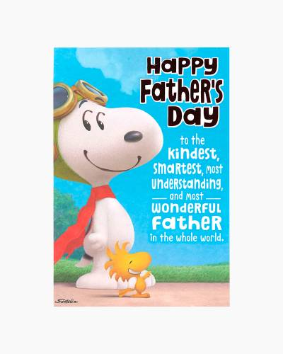 Snoopy and Woodstock Pop-Up Father's Day Card from Son