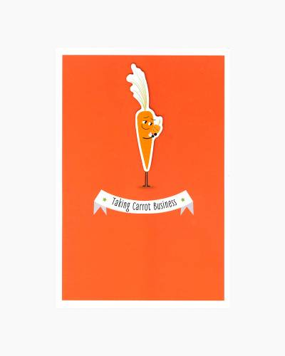 Taking Carrot Business Father's Day Card for New Dad