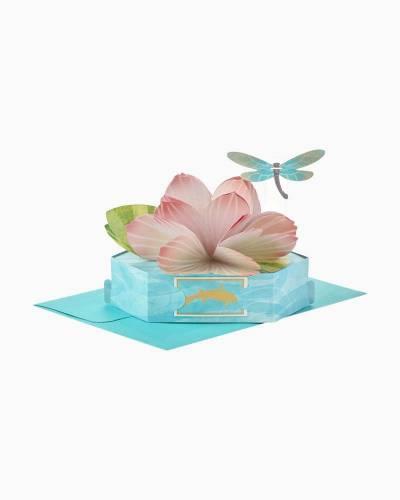 Wonderfolds Graceful Lotus Flower Pop Up Just Because Card