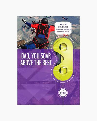 Soar Above the Rest Skydiving VR Father's Day Card
