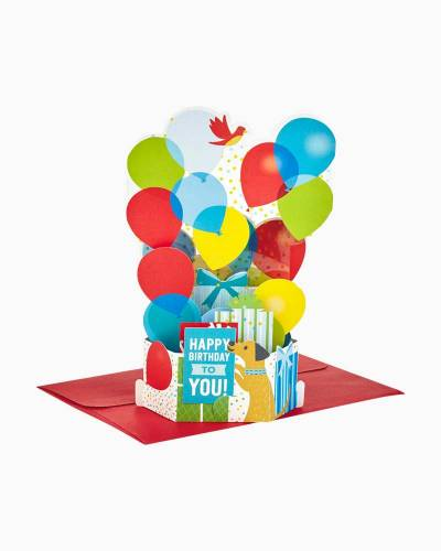 Wonderfolds Burst of Balloons Pop Up Birthday Card
